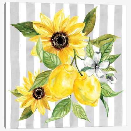Lemons and Sunflowers I Canvas Print #CRO1194} by Carol Robinson Canvas Print