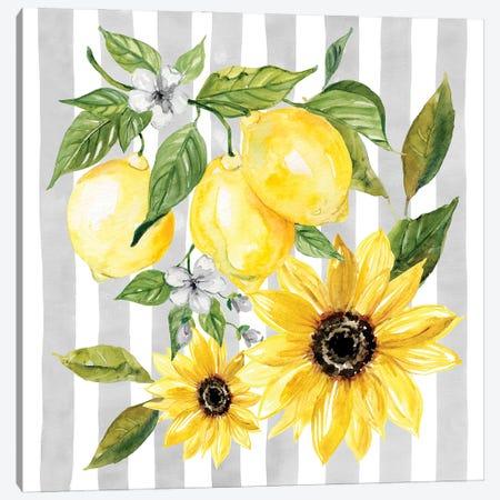 Lemons and Sunflowers II Canvas Print #CRO1195} by Carol Robinson Art Print