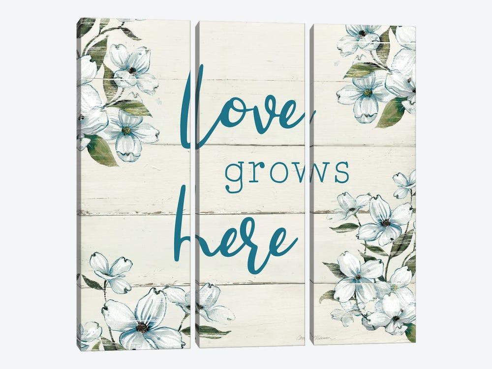 Love Grows Here by Carol Robinson 3-piece Canvas Art Print