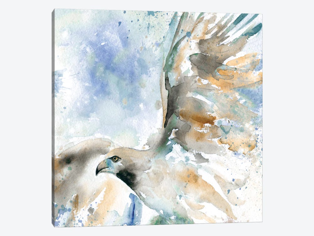 Hawk On Blue 1-piece Canvas Print