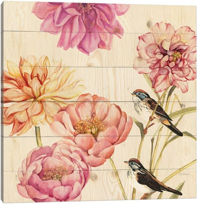 Woodland Sparrows Canvas Print #CRO120