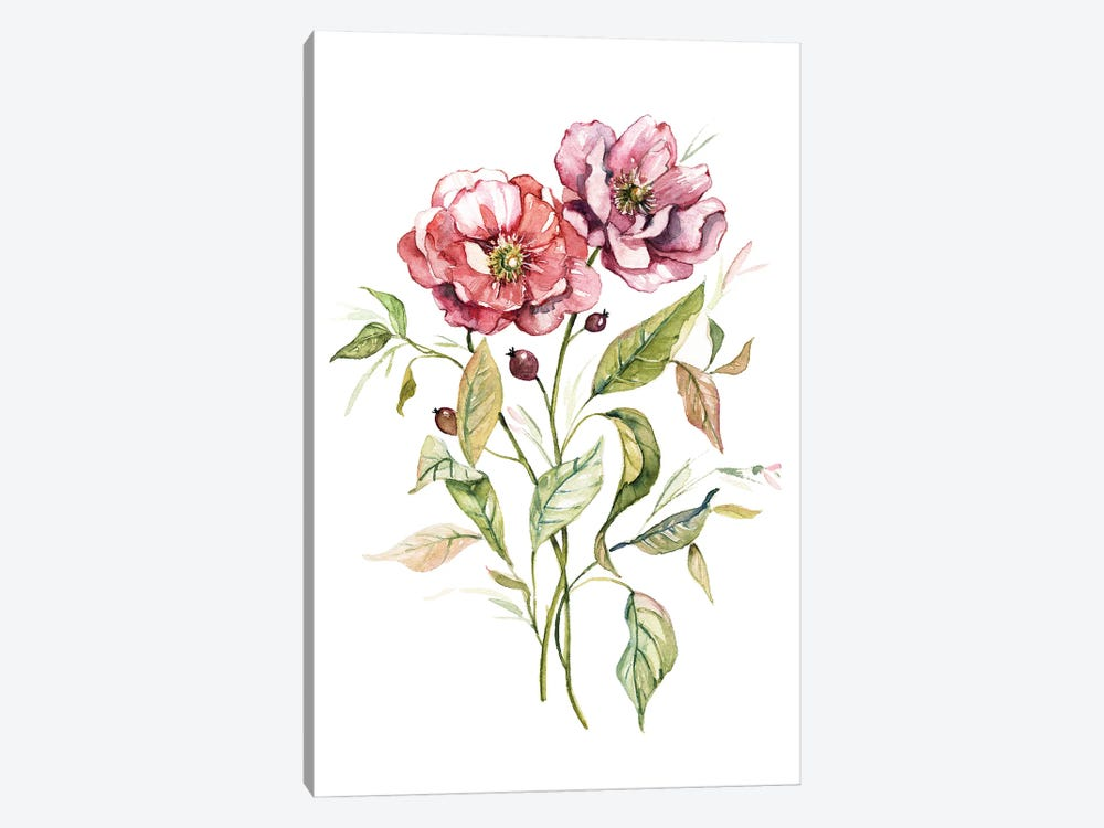 Wild Roses by Carol Robinson 1-piece Canvas Wall Art