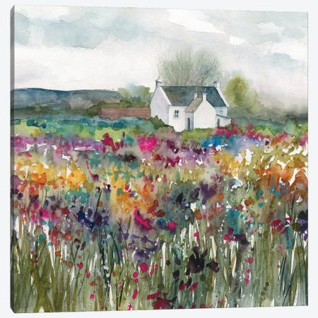 Wildflower Cottage Canvas Print #CRO1216} by Carol Robinson Canvas Artwork