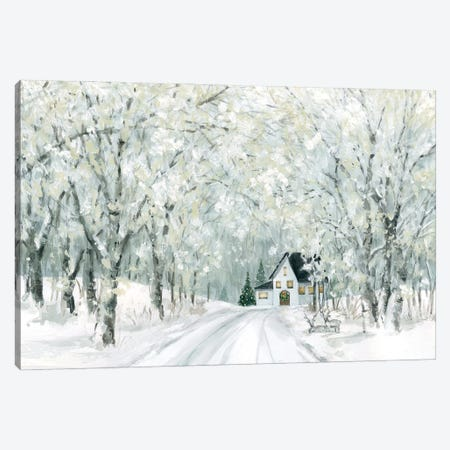 Christmas Lane Canvas Print #CRO1217} by Carol Robinson Canvas Artwork