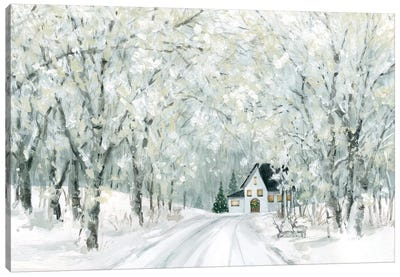 Christmas Lane Canvas Art Print