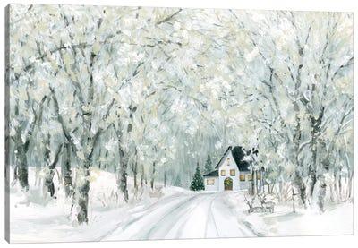Christmas Lane Canvas Art Print