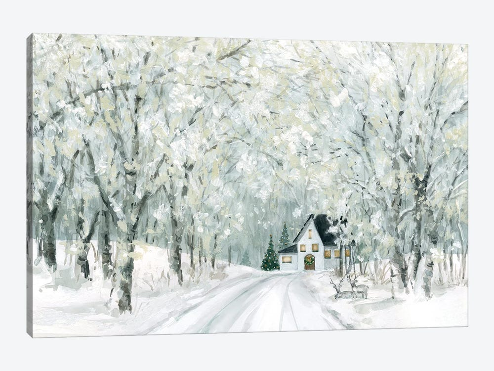 Christmas Lane by Carol Robinson 1-piece Canvas Artwork