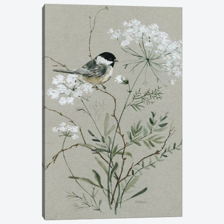 Bouquet of Grace Bird I Canvas Print #CRO1237} by Carol Robinson Canvas Wall Art