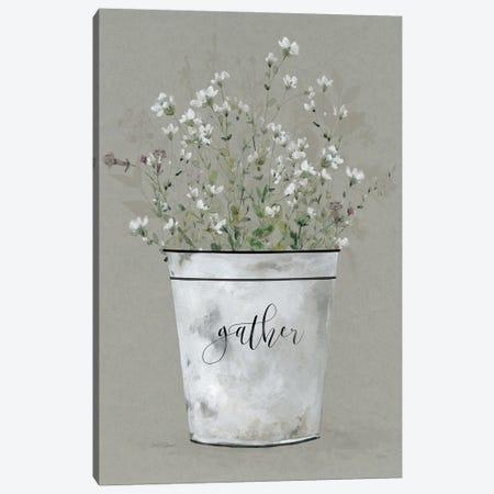Bouquet of Grace Bucket Gather Canvas Print #CRO1239} by Carol Robinson Canvas Print