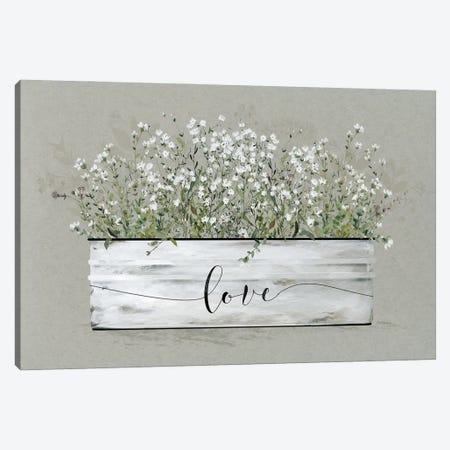 Bouquet of Grace Bucket Love Canvas Print #CRO1240} by Carol Robinson Canvas Artwork