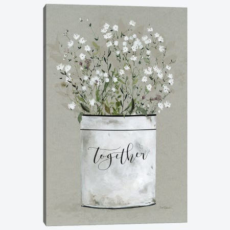 Bouquet of Grace Bucket Together Canvas Print #CRO1241} by Carol Robinson Canvas Wall Art