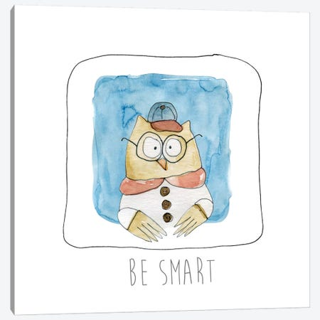 Be Smart Canvas Print #CRO125} by Carol Robinson Canvas Print