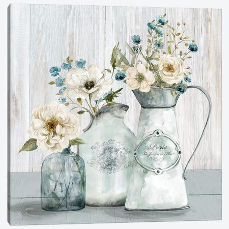 French Garden Flowers I Canvas Print #CRO1260} by Carol Robinson Canvas Artwork