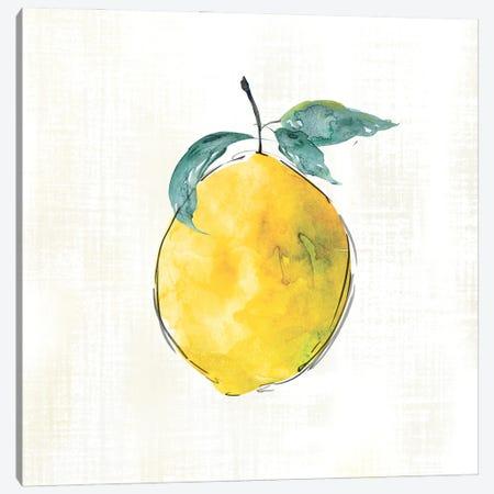 Happy Lemon Canvas Print #CRO1264} by Carol Robinson Canvas Print