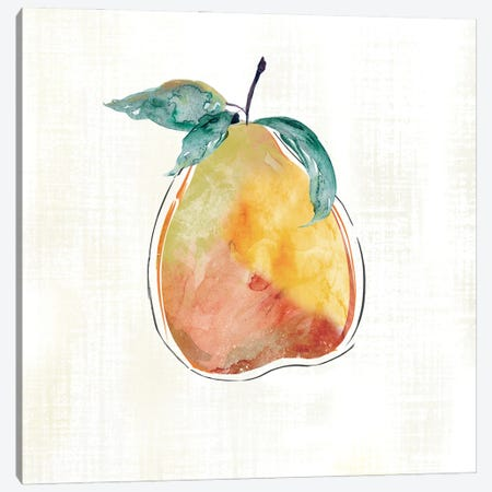 Happy Pear Canvas Print #CRO1267} by Carol Robinson Art Print