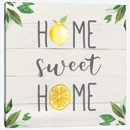 Home Sweet Lemon Home Canvas Print #CRO1269} by Carol Robinson Canvas Wall Art