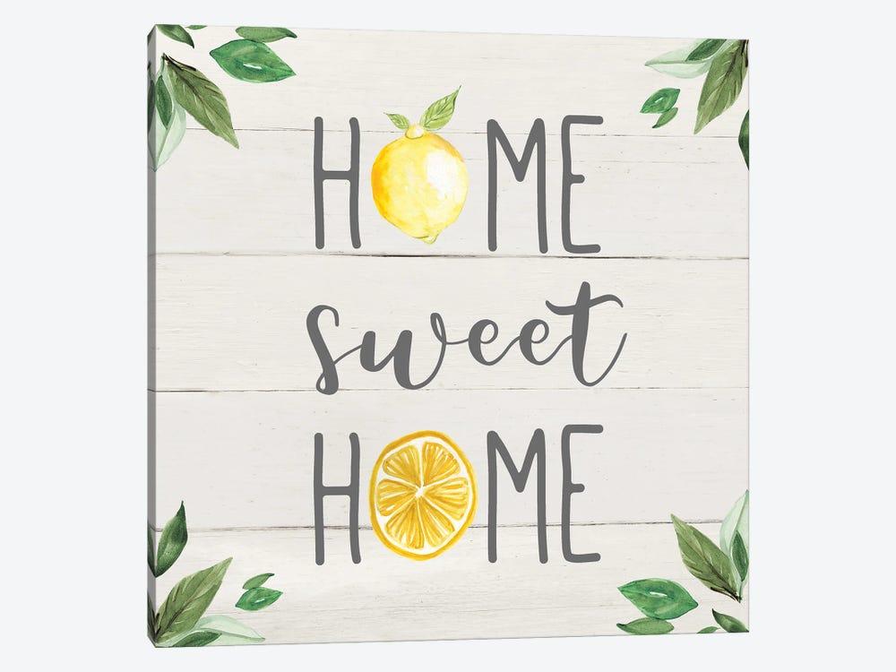 Home Sweet Lemon Home by Carol Robinson 1-piece Canvas Art Print