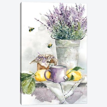 Lavender Lemon and Honey Tea Canvas Print #CRO1274} by Carol Robinson Canvas Wall Art