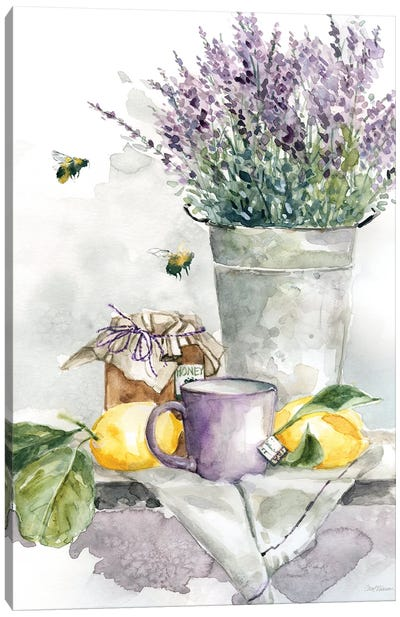 Lavender Lemon and Honey Tea Canvas Art Print