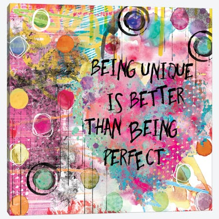 Being Unique Canvas Print #CRO127} by Carol Robinson Canvas Print
