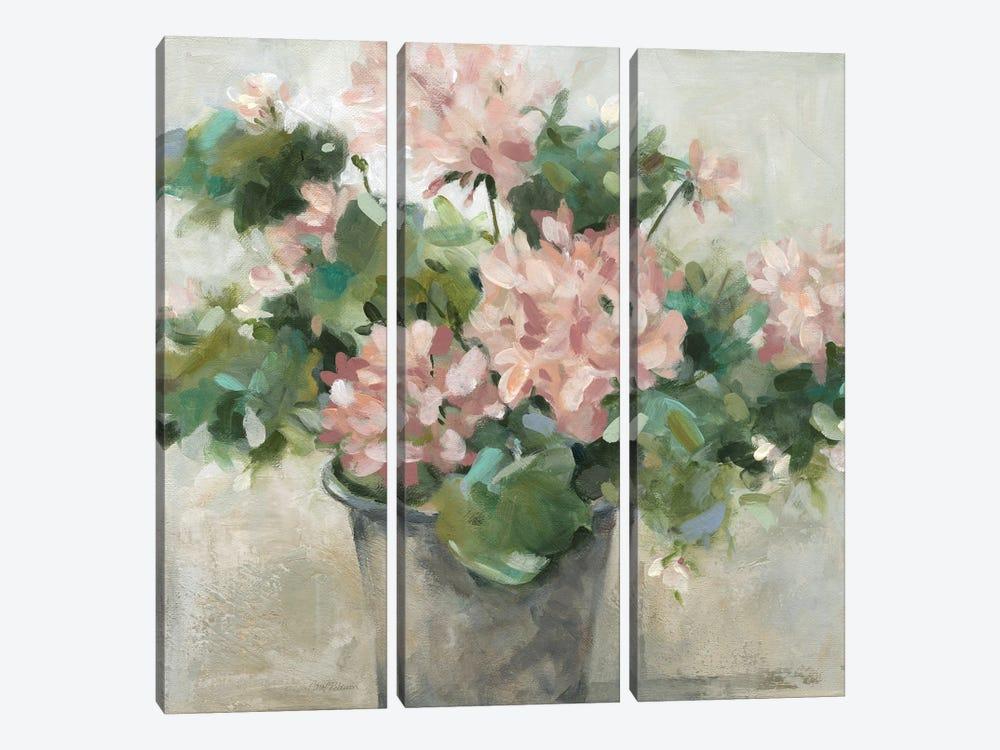 Potted Geranium by Carol Robinson 3-piece Canvas Art