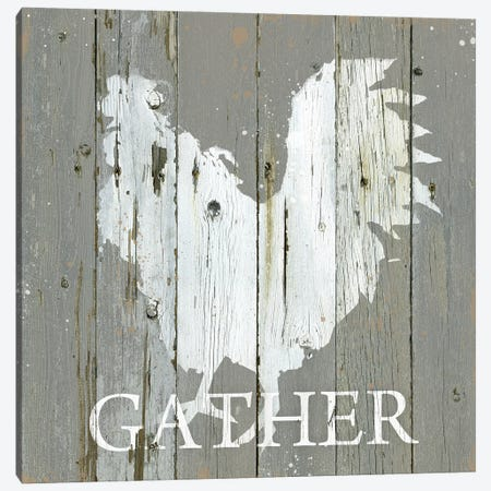 Rooster Gather Canvas Print #CRO1289} by Carol Robinson Canvas Wall Art