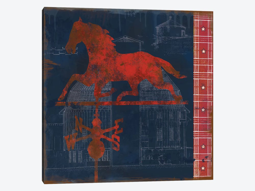 Horse Vane by Carol Robinson 1-piece Canvas Artwork