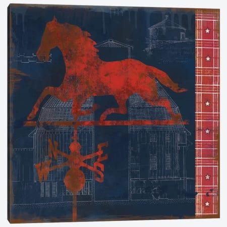 Horse Vane 3-Piece Canvas #CRO12} by Carol Robinson Art Print