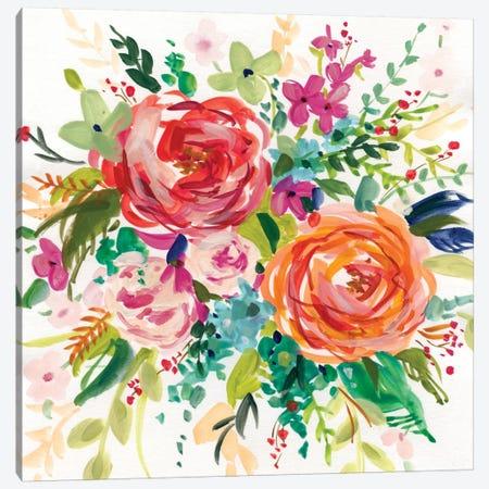 Bright Bouquet I Canvas Print #CRO131} by Carol Robinson Canvas Art Print