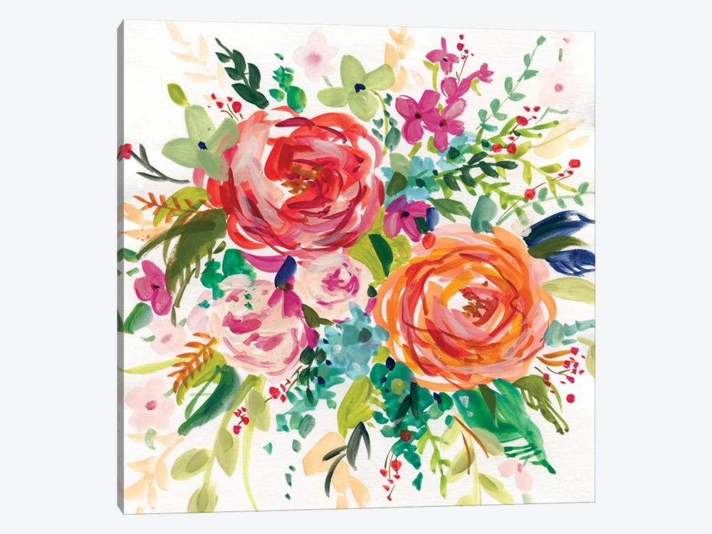 Bright Bouquet I by Carol Robinson 1-piece Canvas Art