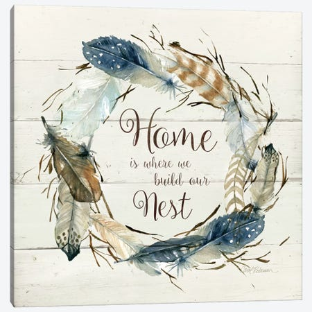 Feather Home Nest Canvas Print #CRO144} by Carol Robinson Art Print