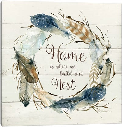 Feather Home Nest Canvas Art Print