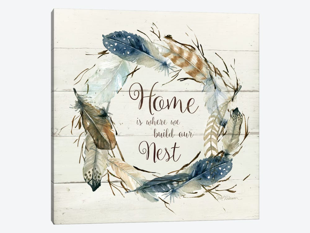Feather Home Nest by Carol Robinson 1-piece Canvas Wall Art