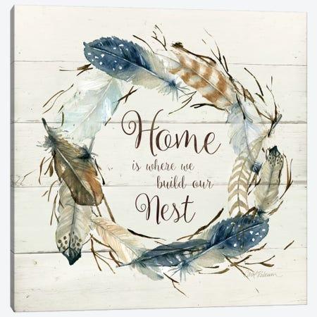 Feather Home Nest Canvas Print #CRO144} by Carol Robinson Art Print