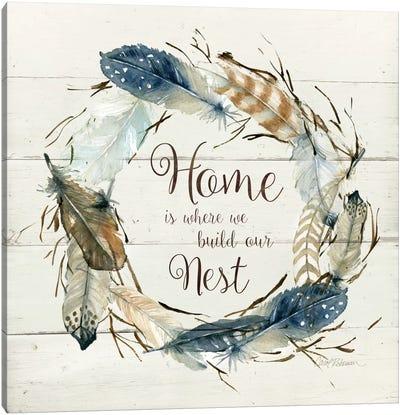 Feather Home Nest Canvas Art Print