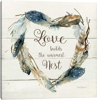 Feather Love Nest Canvas Art Print