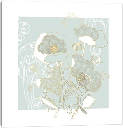 Filigree Floral I Canvas Art Print