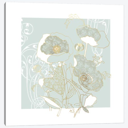 Filigree Floral I Canvas Print #CRO146} by Carol Robinson Canvas Print