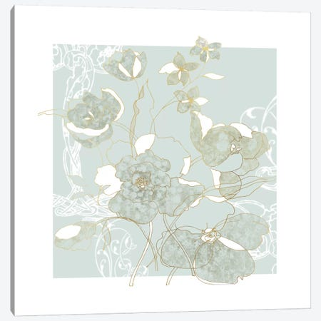 Filigree Floral II Canvas Print #CRO147} by Carol Robinson Canvas Art Print