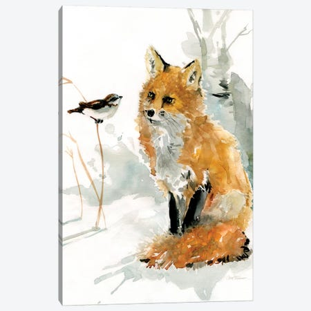Fox and Friend Canvas Print #CRO148} by Carol Robinson Canvas Artwork