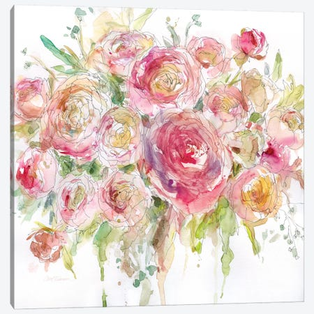 Graceful Bouquet Canvas Print #CRO149} by Carol Robinson Canvas Art