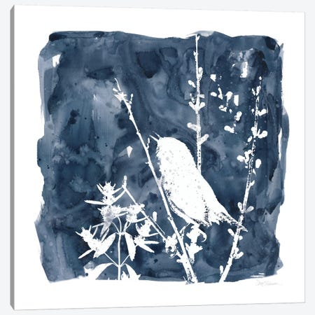 Indigo Bird II Canvas Print #CRO151} by Carol Robinson Canvas Print