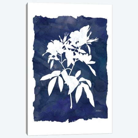 Indigo Botanical I Canvas Print #CRO152} by Carol Robinson Canvas Print