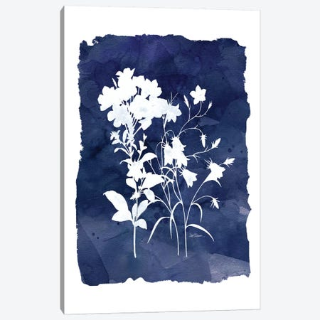 Indigo Botanical II Canvas Print #CRO153} by Carol Robinson Canvas Art Print