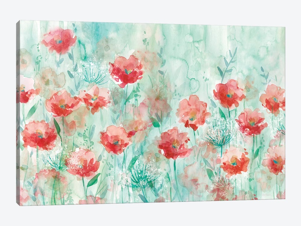 Poppies and Queen Anne by Carol Robinson 1-piece Canvas Print