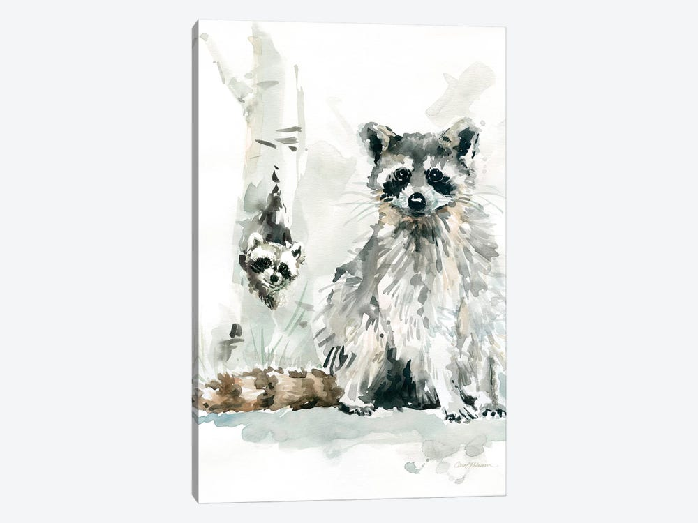 Raccoon and Baby 1-piece Canvas Artwork