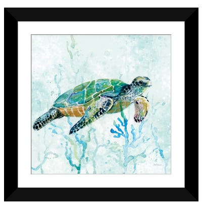 Sea Turtle Swim I Framed Art Print