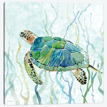 Sea Turtle Swim II Canvas Print #CRO183} by Carol Robinson Canvas Art