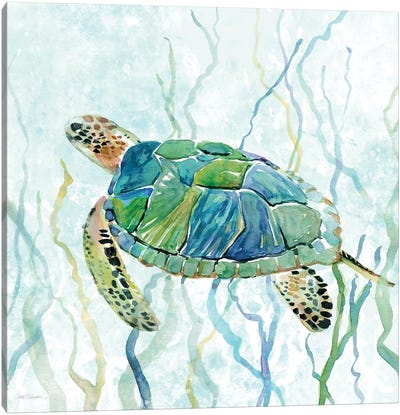 Sea Turtle Swim II Canvas Art Print
