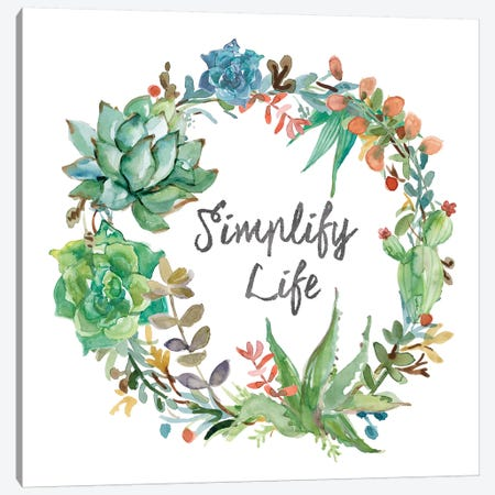 Simplify Life Canvas Print #CRO185} by Carol Robinson Canvas Art Print
